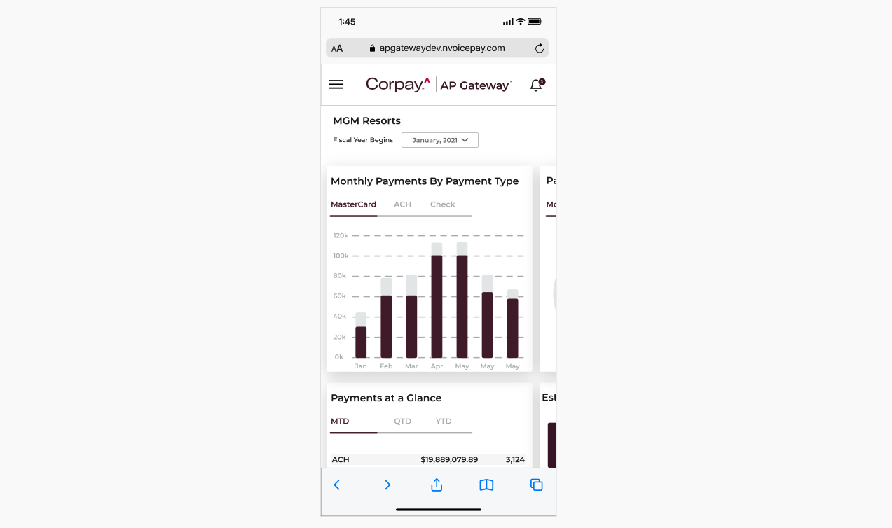 CORPAY RE-BRAND & DASHBOARD REDESIGN