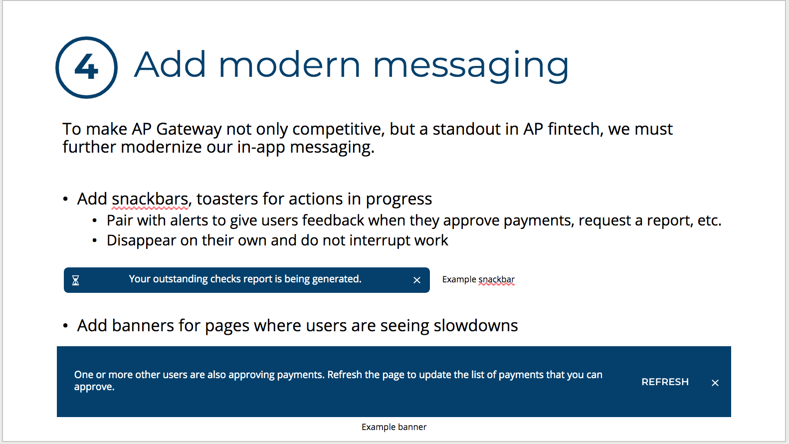 Sitewide Messaging